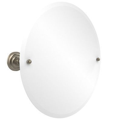 "Allied Brass Prestige Que-Newl 22"" Round Tilt Mirror Finish:"