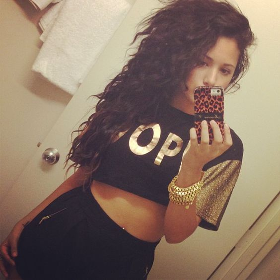 Spotted Jasmine Villegas rocking our Dope Crop Top! #jasminevillegas #livingroyal #dope