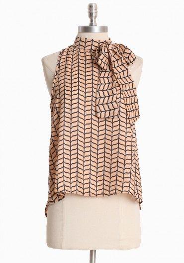 {geometric print blouse} gorgeous!