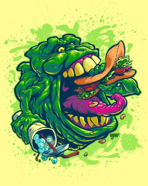 Ghostbusters, slime, and art image