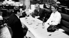 Claude Lanzmann com Simone de Beauvoir e Jean-Paul Sartre.