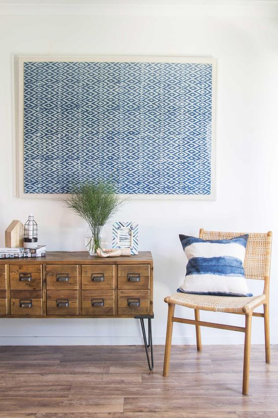 Loomology's collection of handmade textiles, sourced from India and Africa and framed in Australia.
