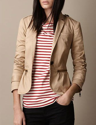 BURBERRY BRIT Military Fitted Jacket