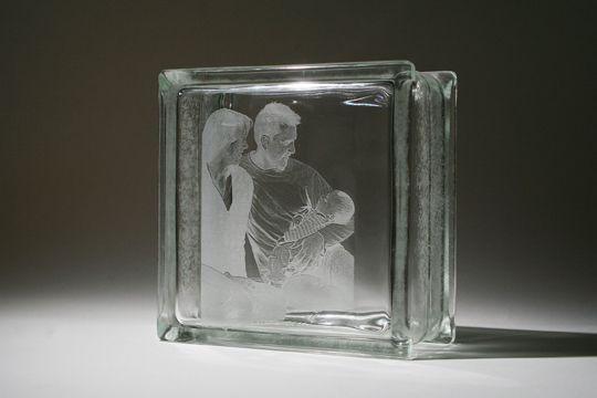 Glass blocks glass block windows and window wall on pinterest for Custom acrylic blocks