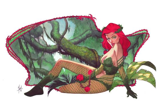 Poison Ivy commission Art of JORGE MOLINA (MARVEL) Pinterest - plexiglas für küchenrückwand
