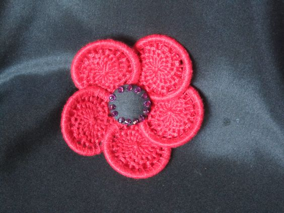 My Flanders poppy in response to ATASDA challenge to remember centenary of ANZAC landing.  Barbara Schey, Sydney: