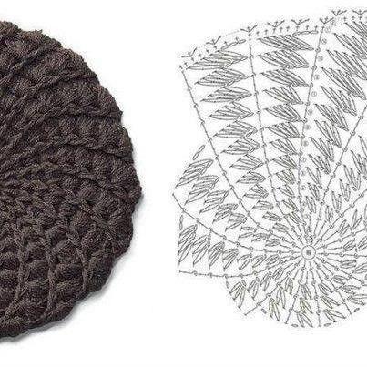 Crochet Beanie Pattern Diagram : Crochet hat with diagram crochet pattern Pinterest ...