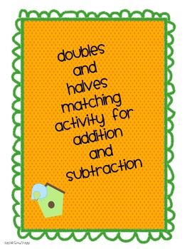 Doubles and Halves Addition and Subtraction Activity | Math ...