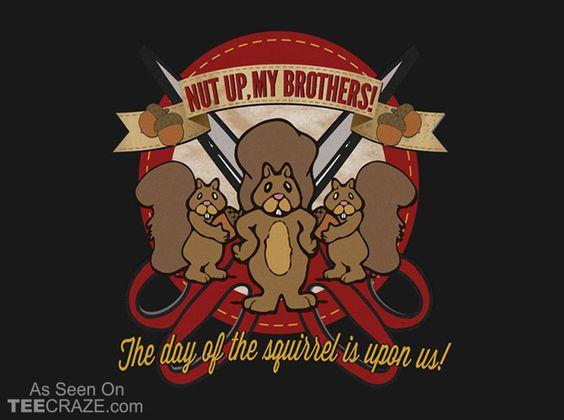 Day Of The Squirrel T-Shirt - http://teecraze.com/day-of-the-squirrel-t-shirt/ -  Designed by promodiva    #tshirt #tee #art #fashion