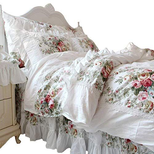 Look At All The Hustle And Bustle Of The City Fadfay Home Textile Give You A Piece Of Pure Land Of S Shabby Chic Bedding Sets Shabby Chic Bedding Rose Bedding