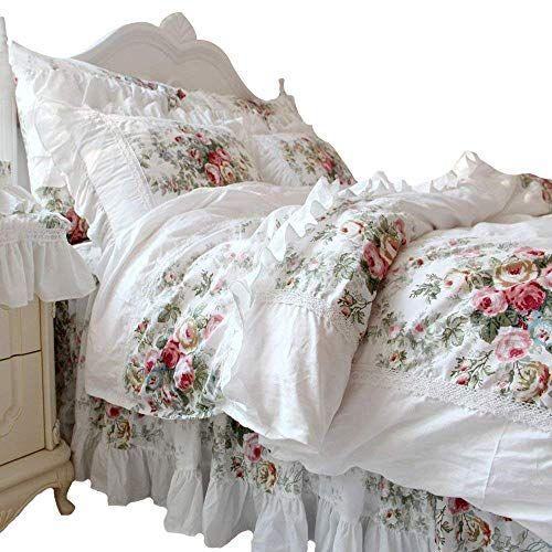 Fadfay Farmhouse Bedding Elegant And Shabby Vintage Rose Floral