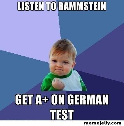 Posta aprendi un monton de palabras en aleman por escuchar RAMMSTIEN