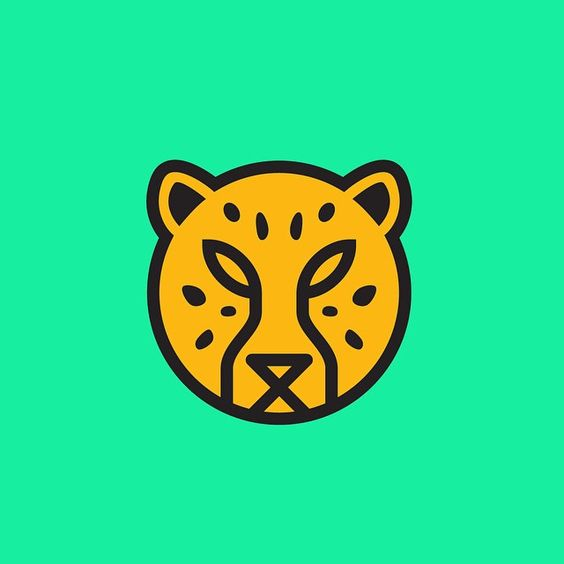 Look at this little dude! He didn't end up making it, because we ended up going in a different direction. #kitbashboneyard #cheetah #illustrator #branding #design #memphisdesign