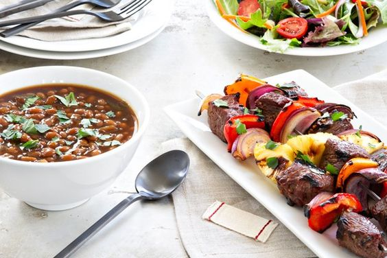... spicy baked beans kebabs dinner the o jays fresh easy dinners recipe