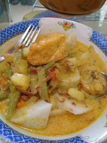 Resep Ketupat Sayur Bangka Enak Bgt Oleh Yun Cooking Resep Masakan Resep Masakan Resep