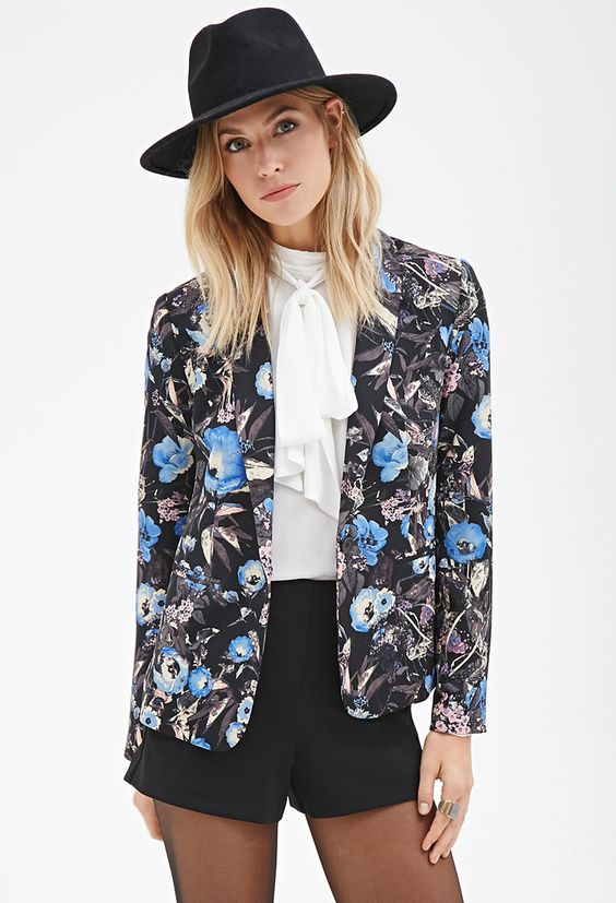 Floral Print Blazer | FOREVER21 - 2055879065