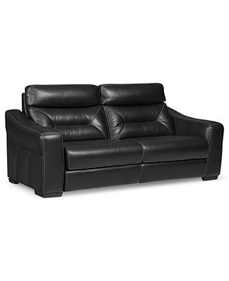 Judson Power Leather Reclining Sofa - Couches & Sofas - Furniture - Macy's