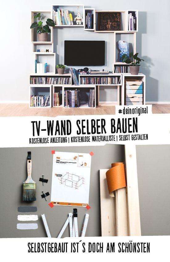 Vielseitige Tv Wand Selber Bauen Und Farblich Individuell