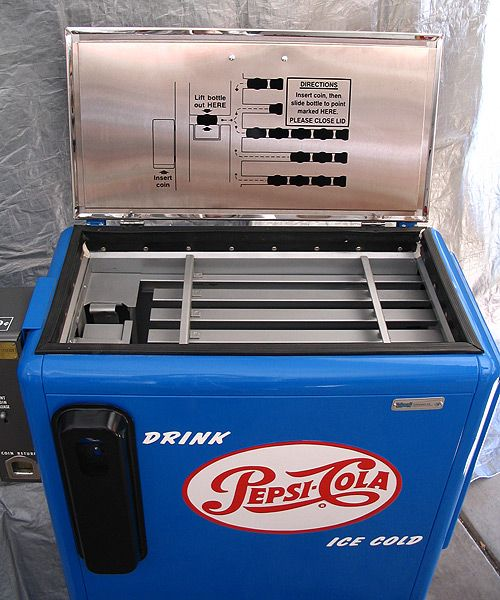"18/"" PEPSI CAP COOLER POP SODA MACHINE DECAL"