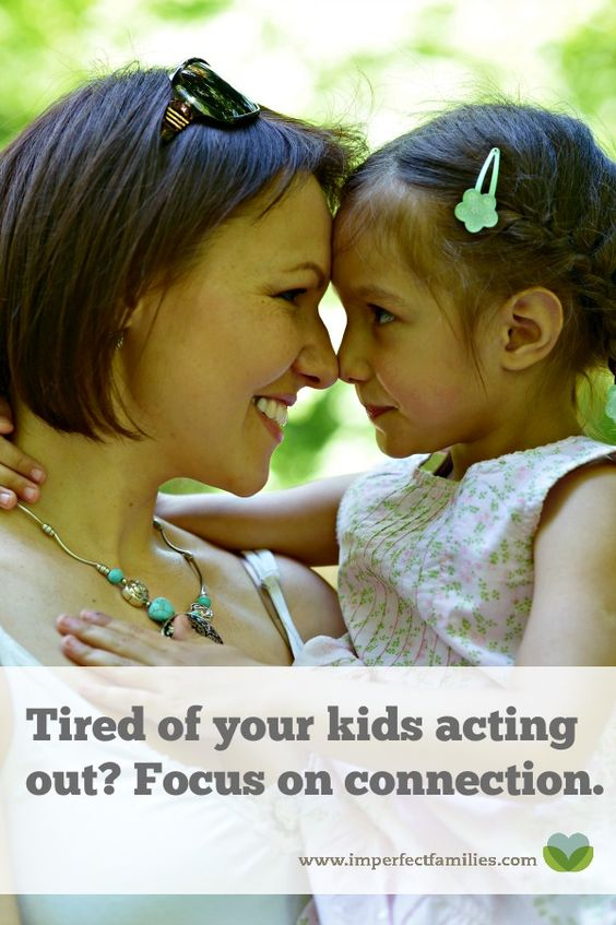 Tired of your kids acting out? Searching for the perfect punishment?  Try connection instead. Here are some tips for making connection work for you and your kids!