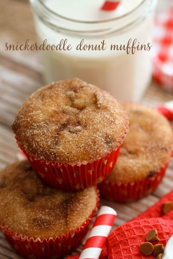 Donut muffins, Cinnamon chips and Donuts on Pinterest