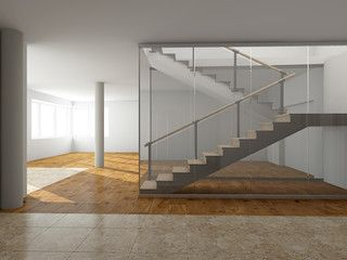 Modern staircase rendering