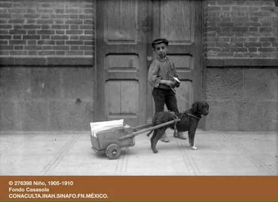 México 1905-1910 Niño con carreta Archivo Casasola