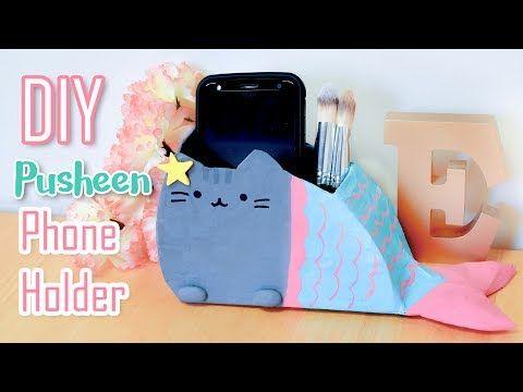 DIY Mermaid Pusheen Phone Holder \u2013 Pen / Brush Holder \u2013 DIY