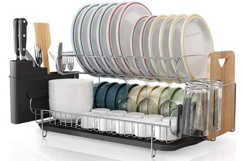 Top 10 Best Stainless Steel Dish Drying Racks Reviews In 2020 Dish Rack Drying Dish Racks Kitchen Dishes