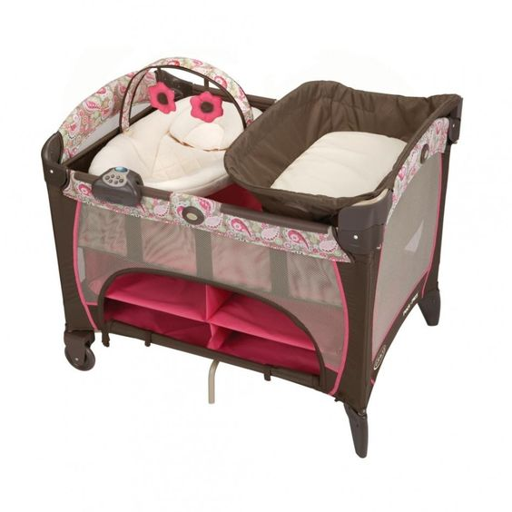 Baby Nursery, : E Traordinary Pack And Play Pink Graco Baby Bed As Baby Furniture For Girl Baby Nursery Room Decoration