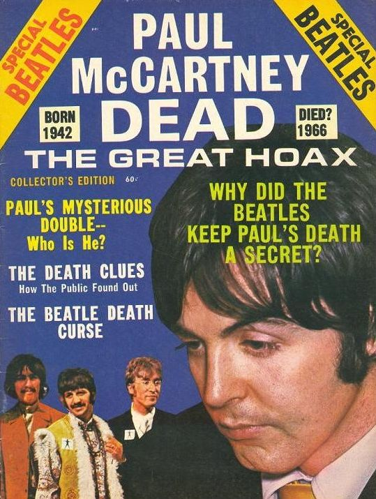 1969 fan magazine Paul Is Dead, which ignited the conspiracy theory that Paul…
