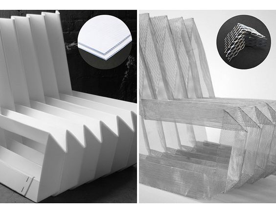 Origami Chair - polypropylene origami, corrugated plastic type of material can…