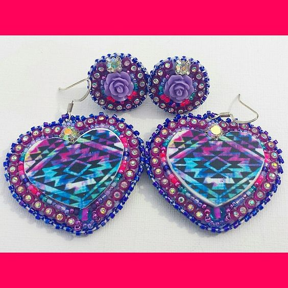 """Mother & daughter set ♡♡♡♡♡ just sharing this oh so pretty set. #BeadedEarrings ♡ #DaisysBlissBoutique ♡"""