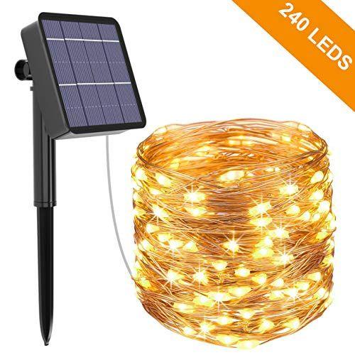 Guirlande Lumineuse Solaire Kolpop 26M 240 LED Exterieur ...