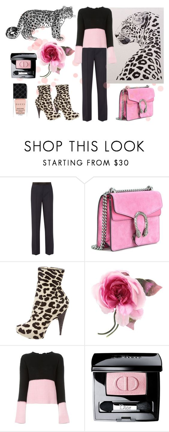 """I Spotted You First"" by neverboring ❤ liked on Polyvore featuring PALLAS, Gucci, Giuseppe Zanotti, Marni and Christian Dior"