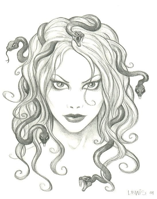 Medusa Percy Jackson Drawing Greek Mythology Creatures On Pinterest