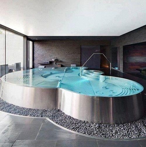Design Indoor Jacuzzi Pool Quotla Maison De Miss Sandraquot Cheap Bathroom Remodel Diy Cheap Bathroom Remodel Indoor Jacuzzi