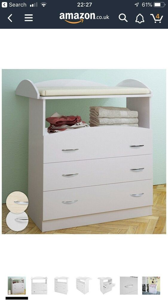 Baby Changing Table Unit 3 Drawers 85 71 96 Cm Chest Storage