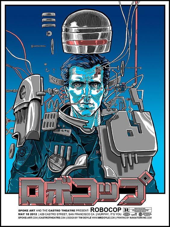Robocop: Movie Posters, Robocop Poster, Robocop Tim, Poster Design, Tim Doyle, Doyle Robocop, Art Poster, Film Posters, Alternative Movie