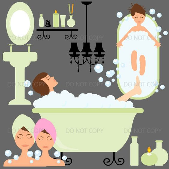 Spa clipart Day Spa clipart Vanity clipart home spa by ArtAmoris ...