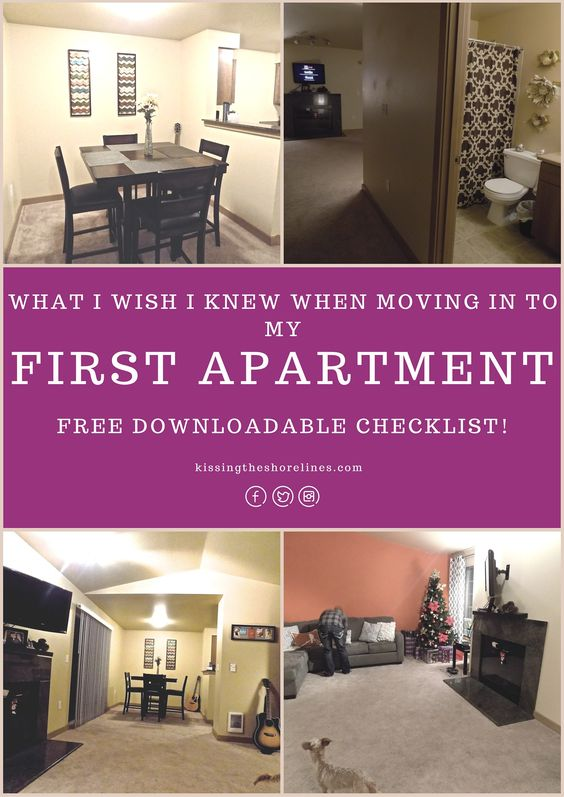 first apartment apartments and first apartment checklist