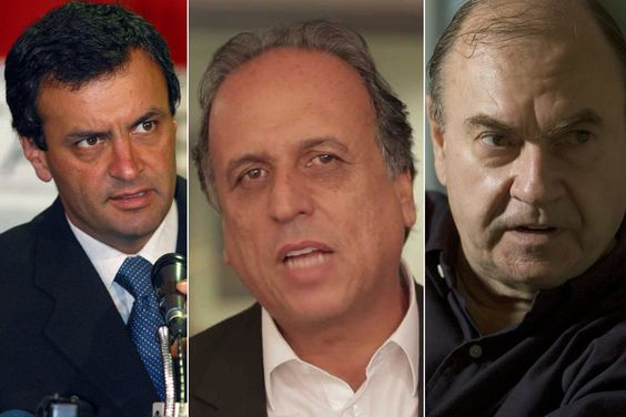 Aécio fortalece aliança com Luiz 'Pezão' e Cesar Maia no Rio | #AécioNeves, #CesarMaia, #LuizFernandoPezão, #Romário, #SérgioCabral, #VitorVieira