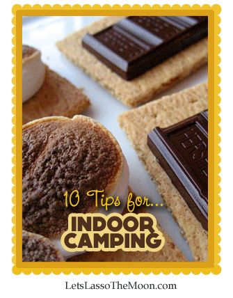{Spring Camping} Spring weather during the day let's us enjoy biking, hiking, and exploring, but the evenings are still chilly. Don't let that get in the way. Go camping! Mmmmmmm, indoor smores. What else are you doing to celebrate spring? Do you have plans for Earth Day?
