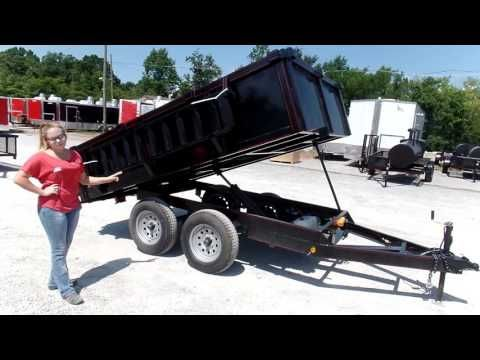 Heavy Duty Dump Trailer 6' x 10' With 3500lb Axles Review - http://sleequipment.com/news/heavy-duty-dump-trailer-6-x-10-with-3500lb-axles-review/