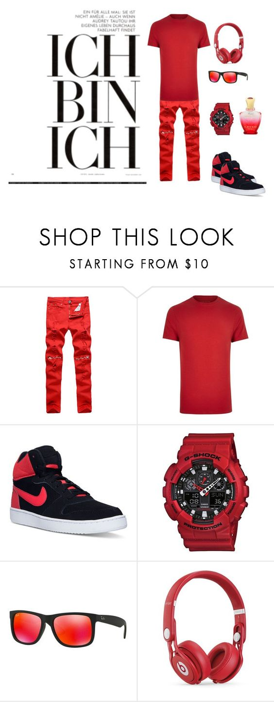 """""""Untitled #19"""" by senad-fadina ❤ liked on Polyvore featuring River Island, NIKE, G-Shock, Ray-Ban, Beats by Dr. Dre, Creed, men's fashion and menswear"""