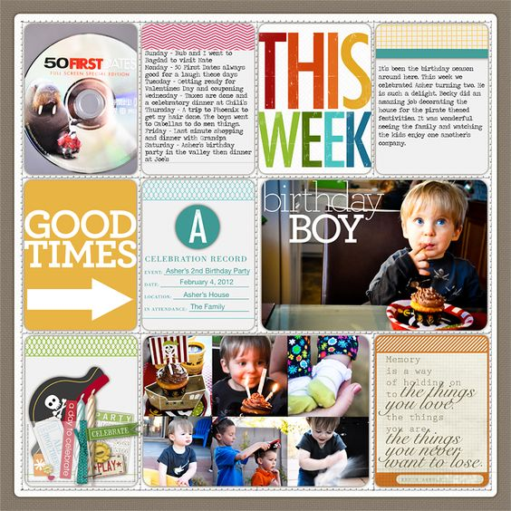 Inspiration for Project Life ~ lovely layout!