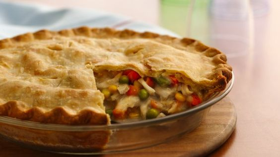 Classic Turkey Pot Pie  Ingredients  Crust 1 box Pillsbury™ refrigerated pie crusts, softened as directed on box  Filling 1/3 cup butter or margarine