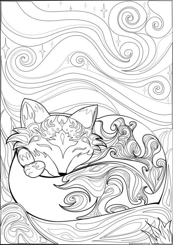 Pin By Mahaila Jaune On Coloring Wolf Fox Fox Coloring Page Coloring Pages Colouring Pages