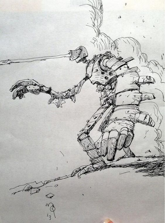 Ian McQue Laputa Robot Sketch