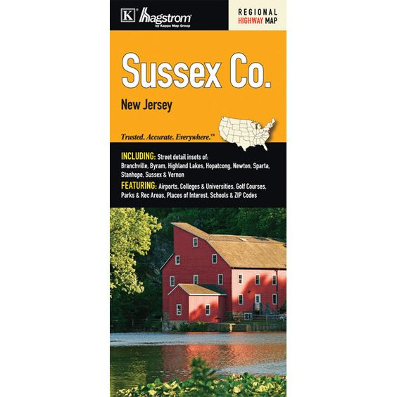 Sussex County Fold Map (Set of 2)